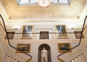 Grand Staircase and Balcony at 116 Pall Mall