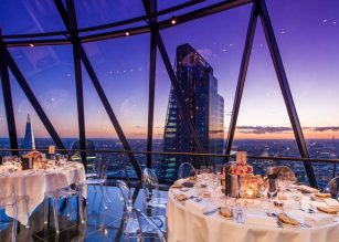 The Restaurant on Level 39 at The Gherkin London