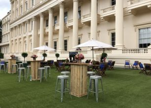 The Outdoor Terrace at Prince Philip House